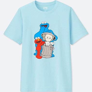 KAWS X SESAME STREET GRAPHIC T-SHIRT, BLUE, medium