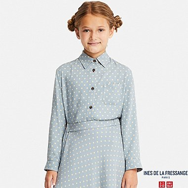GIRLS INES RAYON PRINTED LONG SLEEVE SHIRT