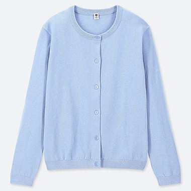 GIRLS CREW NECK CARDIGAN