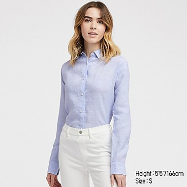 WOMEN PREMIUM LINEN LONG SLEEVED SHIRT 92dbbd082