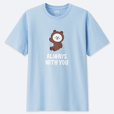 MEN LINE FRIENDS SHORT-SLEEVE GRAPHIC T-SHIRT, BLUE, medium