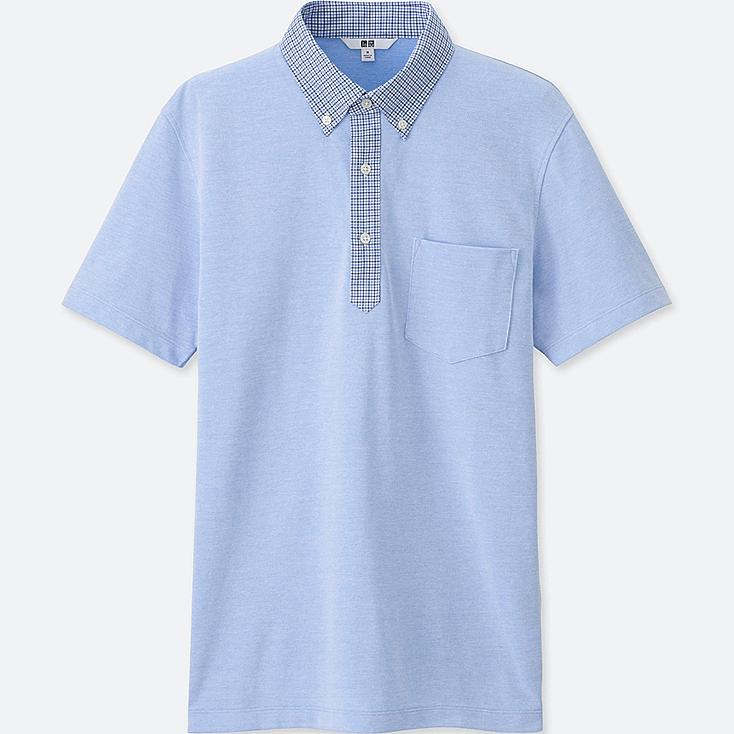 Men dry comfort button down collar polo shirt uniqlo us for Button down collar golf shirt