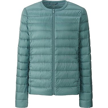 DAMEN Ultra Light Down Jacke kragenlos
