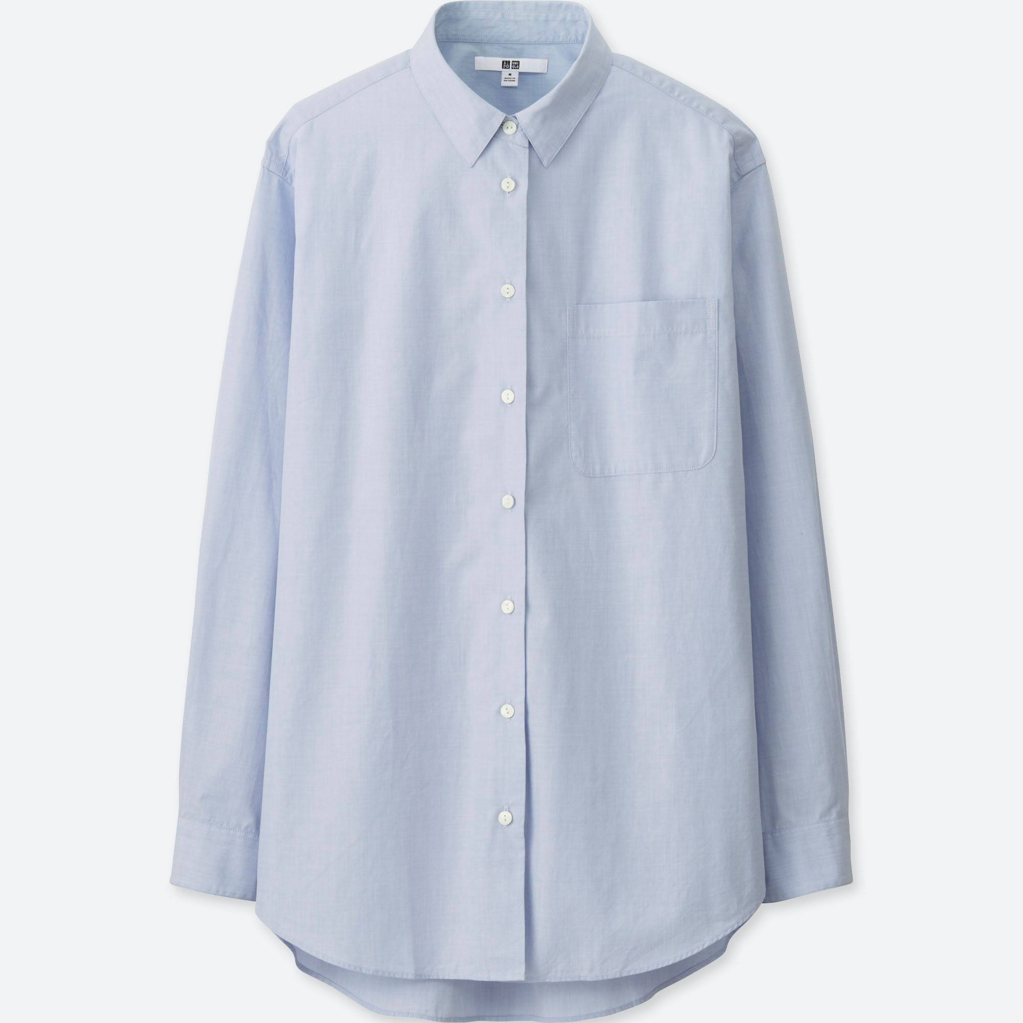 WOMEN EXTRA FINE COTTON OVERSIZED LONG SLEEVE SHIRT | UNIQLO US