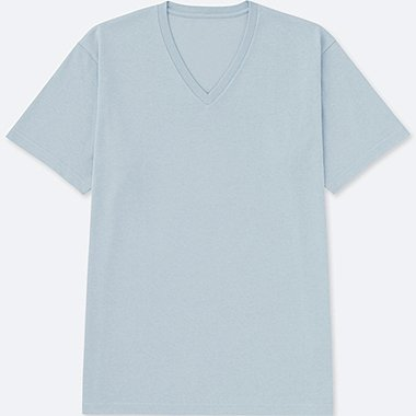 MEN PACKAGED DRY V-NECK SHORT SLEEVE T-SHIRT, BLUE, medium