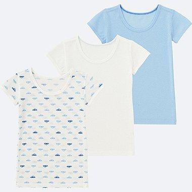 BABIES INFANT Mesh Inner Short Sleeve T-Shirt  - 3 Pack