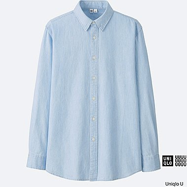 MEN Uniqlo U Denim Long Sleeve Shirt