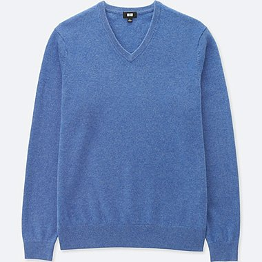 PULL CACHEMIRE COL V MANCHES LONGUES HOMME