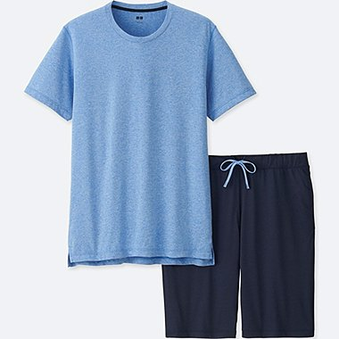 MEN AIRism LOUNGE SET, BLUE, medium