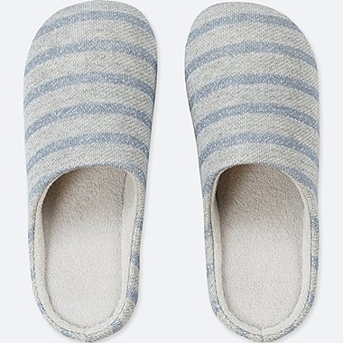 PATTERNED SLIPPERS, BLUE, medium