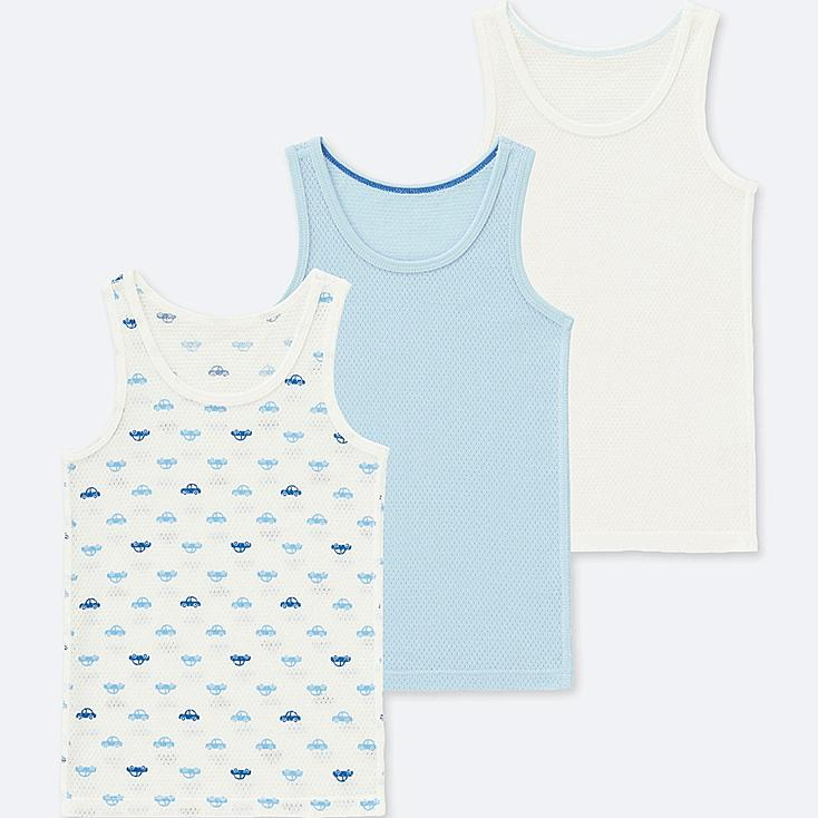 TODDLER COTTON MESH TANK TOP (SET OF 3), BLUE, large