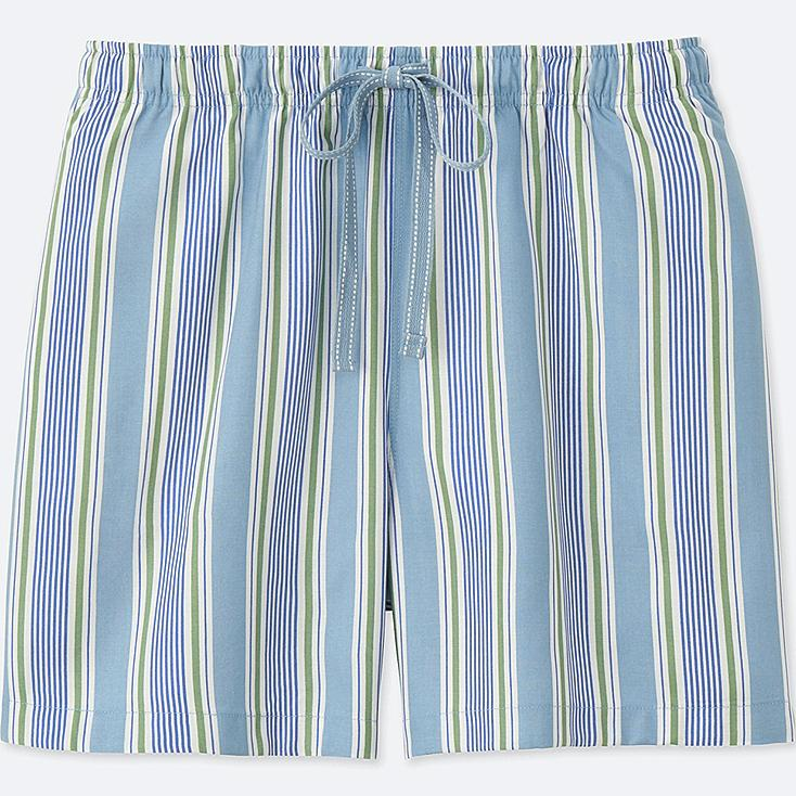 WOMEN STRIPED RELACO SHORTS, BLUE, large