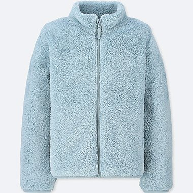 KIDS FLUFFY YARN FLEECE LONG SLEEVED JACKET