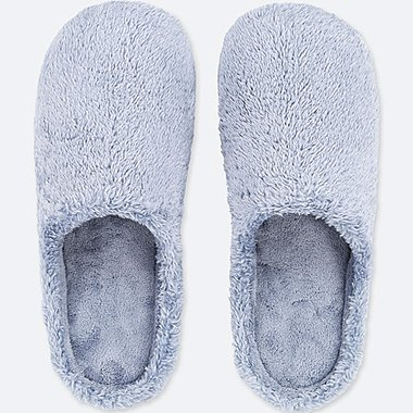 FLEECE SLIPPERS, BLUE, medium