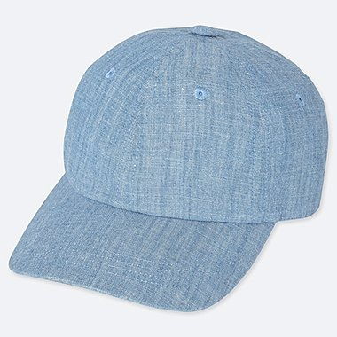 KIDS CHAMBRAY CAP, BLUE, medium