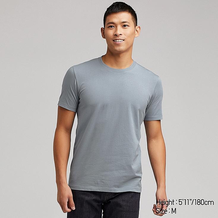 MEN SUPIMA® COTTON CREW NECK SHORT-SLEEVE T-SHIRT, BLUE, large