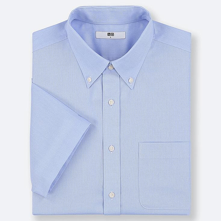 MEN DRY EASY CARE OXFORD SHORT-SLEEVE SHIRT (ONLINE EXCLUSIVE), BLUE, large