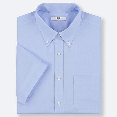 CAMISA OXFORD EASY CARE MANGAS CORTAS HOMBRE