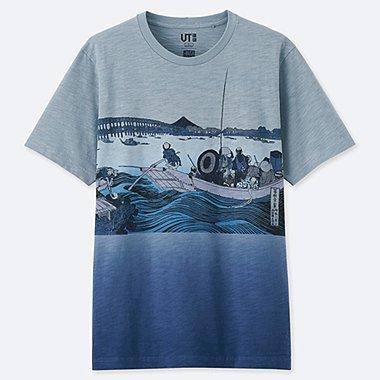 HERREN UT T-SHIRT HOKUSAI BLUE