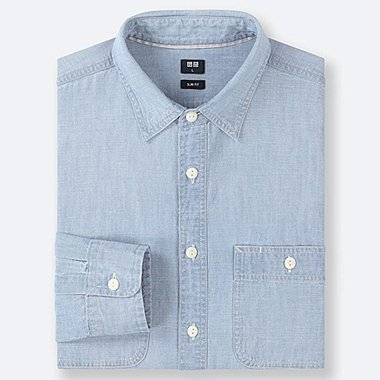 MEN CHAMBRAY SLIM FIT SHIRT (REGULAR COLLAR)