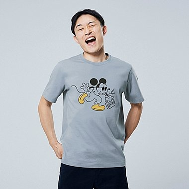 MICKEY ART UT YU NAGABA (SHORT-SLEEVE GRAPHIC T-SHIRT), BLUE, medium