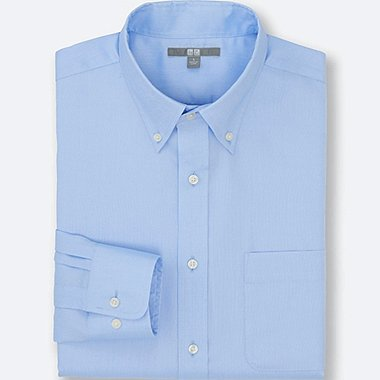 MEN EASY CARE OXFORD LONG SLEEVE SHIRT, BLUE, medium