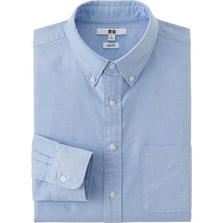 Men 39 s oxford slim fit long sleeve shirt uniqlo us for Men oxford slim fit long sleeve shirt