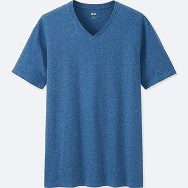 Men Supima® Cotton V-Neck T-Shirt, BLUE, medium