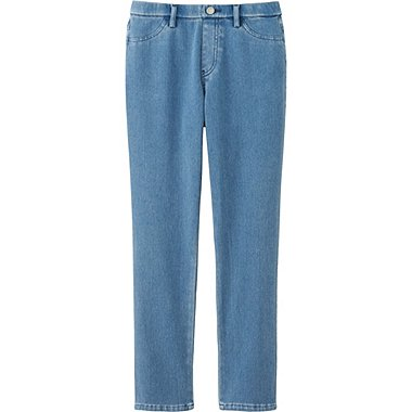 Womens Cropped Jeggings, BLUE, medium