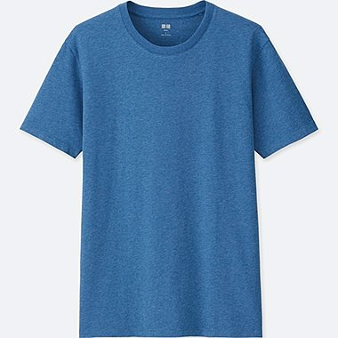 MEN SUPIMA COTTON CREWNECK SHORT-SLEEVE T-SHIRT, BLUE, medium
