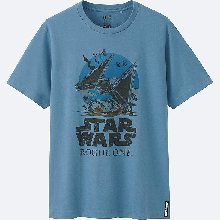 MEN STAR WARS SHORT SLEEVE GRAPHIC T-SHIRT, BLUE, large