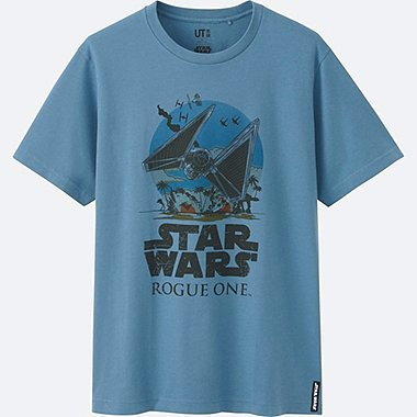 MEN STAR WARS SHORT SLEEVE GRAPHIC T-SHIRT, BLUE, medium