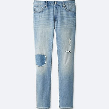 HERREN Slim Fit Jeans im Damaged Look