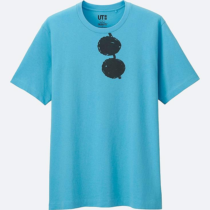 MEN PEANUTS SHORT SLEEVE GRAPHIC T-SHIRT, BLUE, large