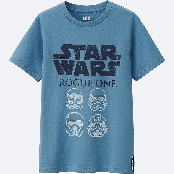 KIDS STAR WARS SHORT SLEEVE GRAPHIC TEES, BLUE, large