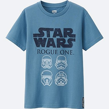 KIDS STAR WARS SHORT SLEEVE GRAPHIC T-Shirt, BLUE, medium