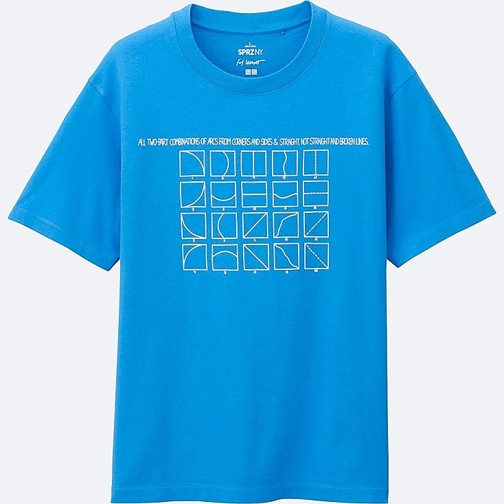 MEN SPRZ NY Super Geometric GRAPHIC T-SHIRT (SOL LEWITT), BLUE, large