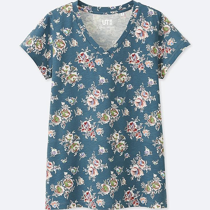 WOMEN EPICE Short Sleeve V Neck T-Shirt