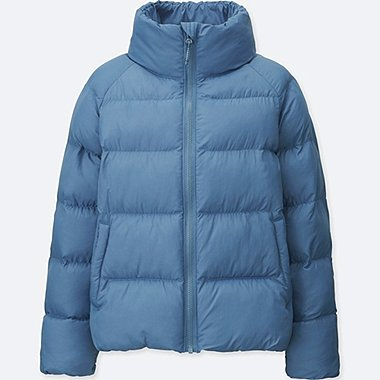 GIRLS LIGHT WARM PADDED JACKET, BLUE, medium