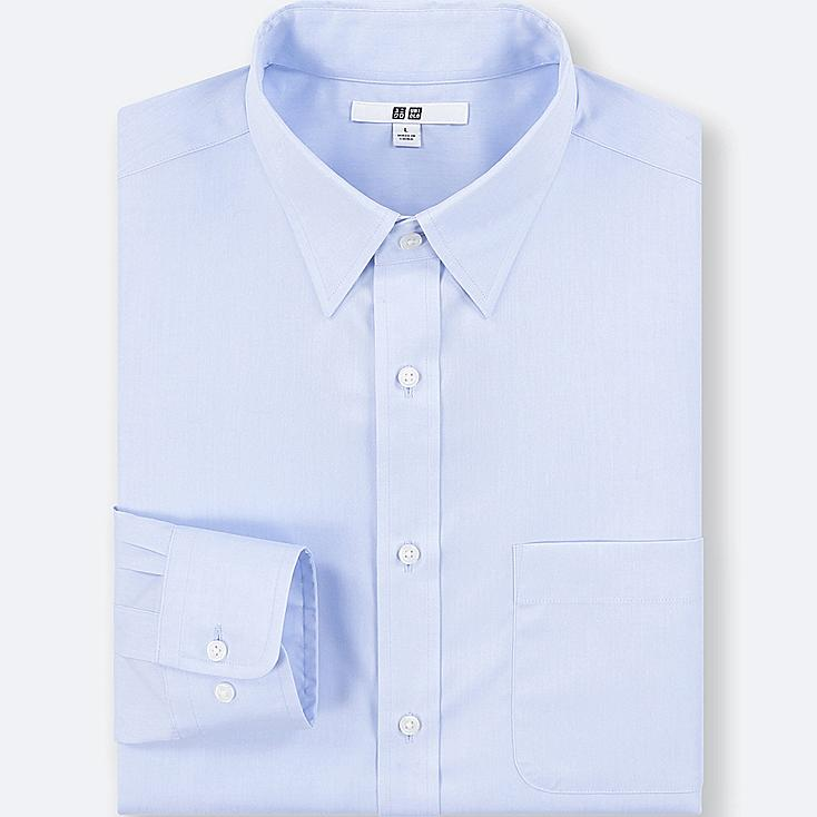 MEN EASY CARE BROADCLOTH REGULAR-FIT SHIRT (ONLINE EXCLUSIVE), BLUE, large