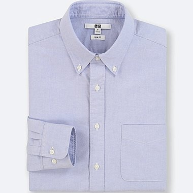 MEN OXFORD SLIM FIT LONG SLEEVE SHIRT
