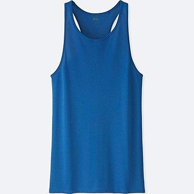 WOMEN DRY-EX LONG TANK TOP, BLUE, medium