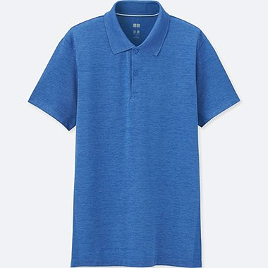 MEN DRY-EX SHORT-SLEEVE POLO SHIRT, BLUE, medium