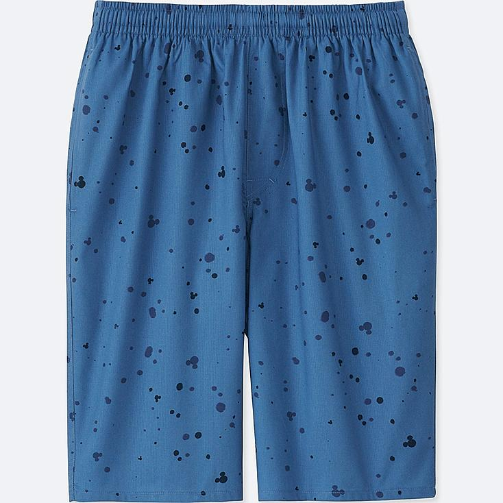 MEN MICKEY AND THE SUN LIGHT COTTON EASY SHORTS, BLUE, large