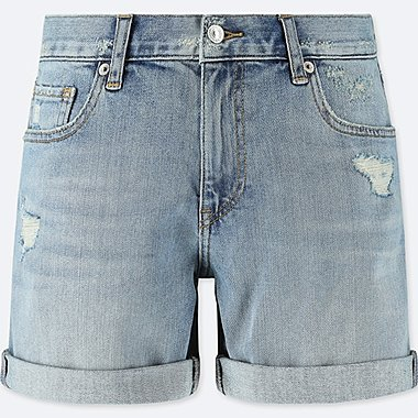 WOMEN DENIM BOYFRIEND SHORTS