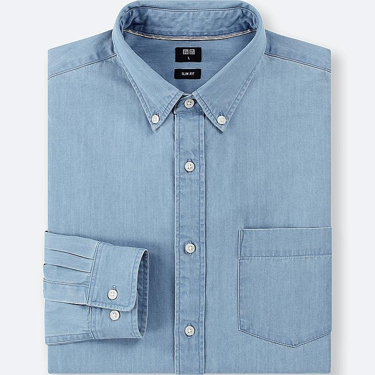 398b2898a6b MEN DENIM SLIM FIT SHIRT (BUTTON-DOWN COLLAR)