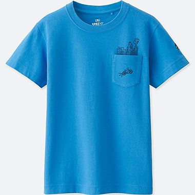 KIDS SPRZ NY GRAPHIC T-SHIRT (Timothy Goodman), BLUE, medium