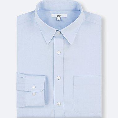 MEN EASY CARE REGULAR-FIT LONG-SLEEVE SHIRT (XXL BODY SIZE), BLUE, medium