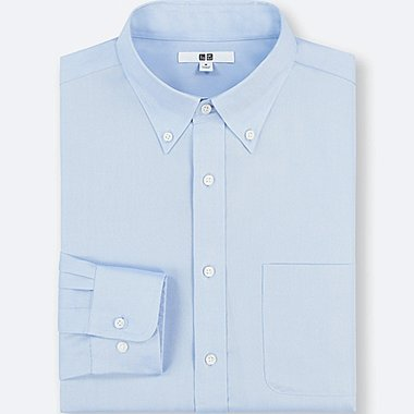 MEN EASY CARE REGULAR-FIT LONG-SLEEVE SHIRT (3XL BODY SIZE), BLUE, medium