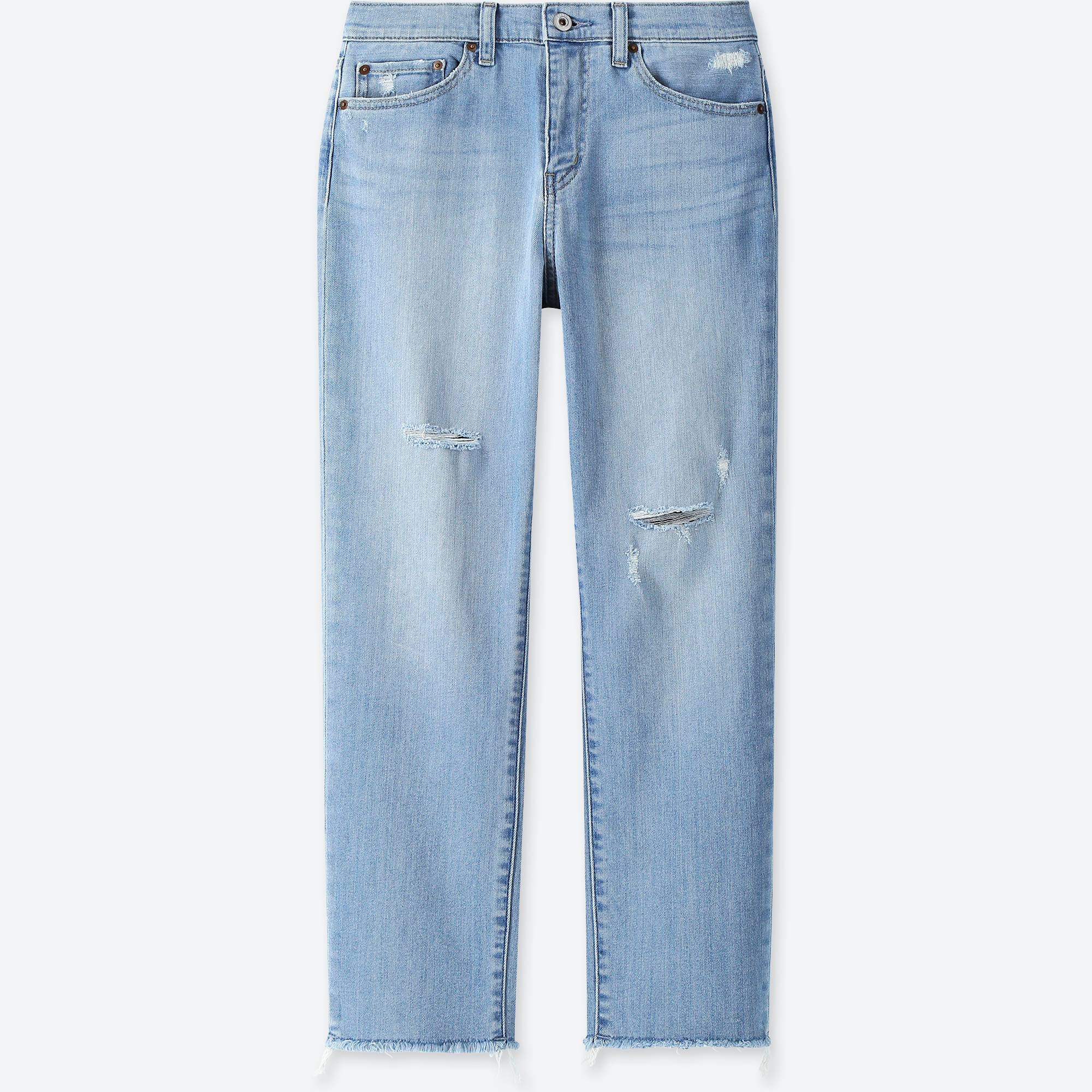 UNIQLO / Jeans women high-rise boyfriend-fit jeans
